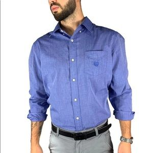 Ralph Lauren Chaps Men's Blue Button Down Shirt
